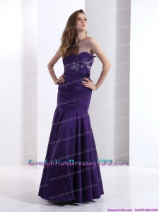 2015 Graduation Dresses with Beading and Ruching