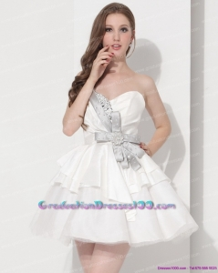 Wonderful Sweetheart Ball Gown 2015 Graduation Dress in White
