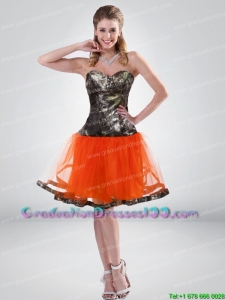 Affordable 2015 Sweetheart Multi Color Short Camo Graduation Dresses