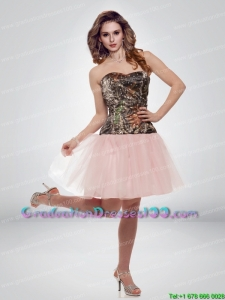 Luxurious A Line Sweetheart Camo Graduation Dresses