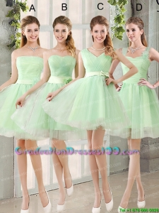 Ruching Organza A Line Mini Length Beautiful Graduation Dress with Lace Up