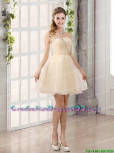 2015 Sturning Sweetheart A Line Cute Graduation Dresses with Beading