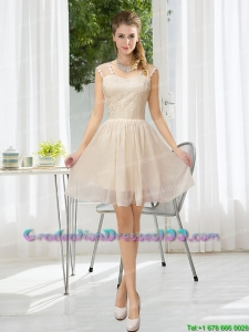 Straps Lace Sleeveless Elegant Graduation Dresses with Mini Length