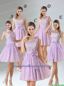 2015 Brand New Style A Line Chiffon Group Buying Graduation Dresses