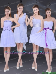2015 Elegant Chiffon Lace Up Group Buying Graduation Dresses in Lavender