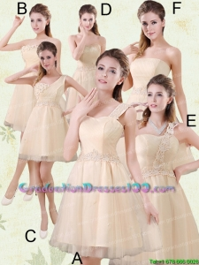 2015 The Brand New Style Mini Length Plus size Graduation Dress