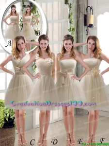 Elegant Princess Mini Length Lace Group Buying Graduation Dresses with Bowknot