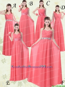 Exquisite Watermelon Group Buying Graduation Dresses with Ruch and Beading