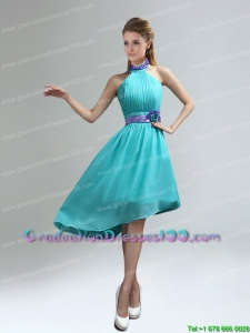 New Fashion High Neck Asymmetrical Multi Color Plus size Graduation Dress