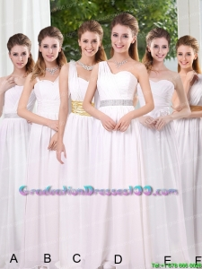 White Ruching Empire Group Buying Graduation Dresses for 2015