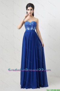 Hot Sale Sweetheart Blue 2016 Graduation Dresses with Appliques