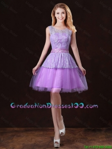Luxurious Scoop Graduation Dresses with Appliques and Belt