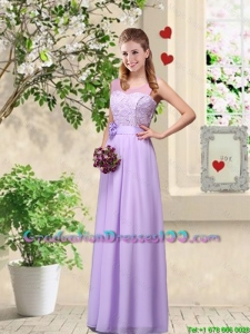 Comfortable Hand Made Flowers Graduation Dresses with Lace