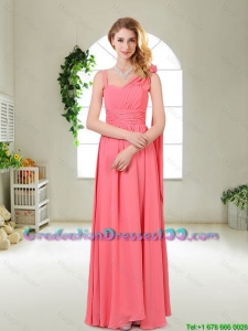 Luxurious Asymmetrical Graduation Dresses in Watermelon Red