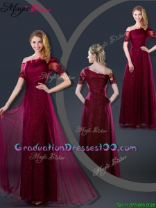 Perfect Empire Appliques Graduation Dresses with Asymmetrical