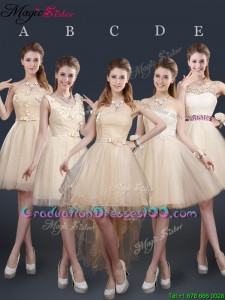 Sweet Short Graduation Dresses with Appliques and Belt