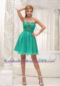 Perfect Sweetheart Beading Short Graduation Dress for 2016