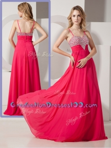 Brand New Style Spaghetti Straps High School Graduation Dresses with Beading