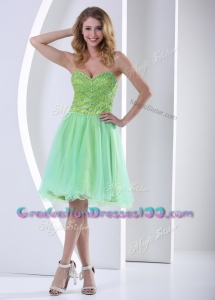 Modest Sweetheart Beading Short Graduation Dresses for Party
