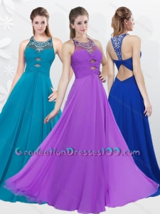2016 Fall Classical Empire Criss Cross Beading Graduation Dress