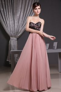 Sweetheart Graduation Dresses For Middle School with Pleats in Pink