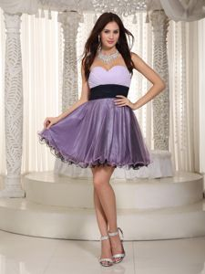 Lovely Sweetheart Purple Short Junior Graduation Dress under 150