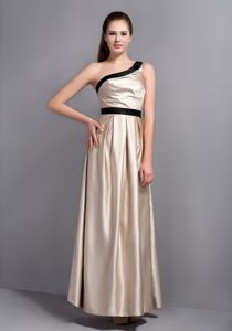Plus Size One Shoulder Champagne Graduation Dresses Online
