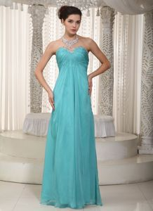 Turquoise Graduation Dresses with Beaded Sweetheart in Devon