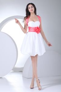 Pretty Taffeta Graduation Ceremony Dresses with Flowers and Bow