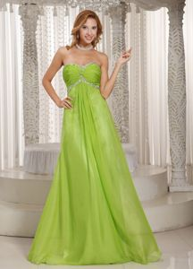 Sweetheart Spring Green Full-length High School Graduation Dresses