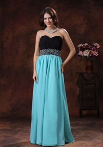 Sweetheart University Graduation Dresses with Beading in Aqua Blue