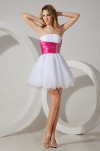 Two-toned Strapless Beading 8th Grade Graduation Dress Wholesale
