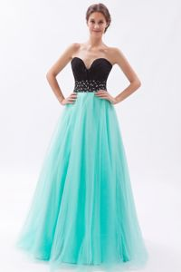 Beautiful Two-toned Tulle Ruche Junior Graduation Dresses with Bead