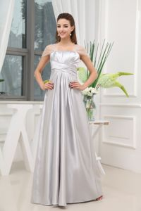 Simple Square Beaded Graduation Dresses for High School in Gray