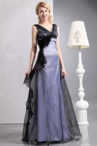 V-neck Two-Toned Long Evening Dress for Graduation on Sale