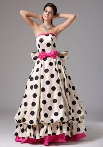 Muti-color Strapless Graduation Dress For High School with Bows