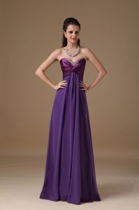 Utah Purple Floor-length Beaded Graduation Dress for High School