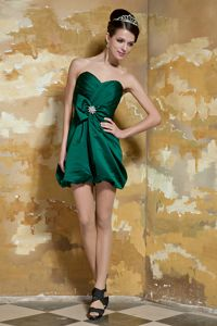 Plus Size Sweetheart Mini Dark Green College Graduation Dress