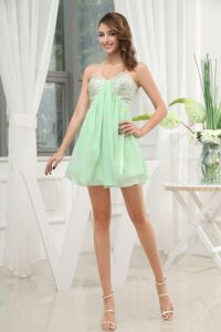 Apple Green Sweetheart Short Graduation Dress For Middle School