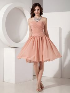 Stylish Sweetheart Ruched Chiffon Graduation Dresses for Grade 8