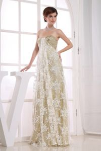 Floor-length Sweetheart Graduation Dress with Sequins Champagne