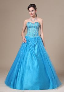 Fashionable Beading Sweetheart Tulle Evening Dress for Graduation