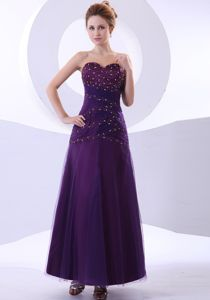 Discount Sweetheart Beaded Purple Graduation Dress for Girls
