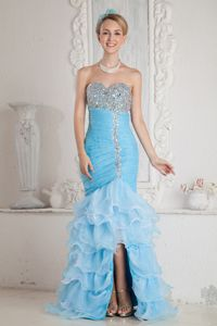 Mermaid Beading Ruche Graduation Dress for 8th Grade with Ruffle