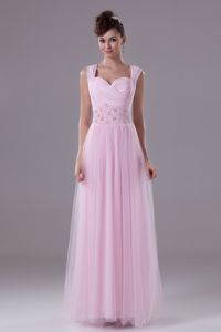 Sweetheart Baby Pink Long Middle School Graduation Dresses
